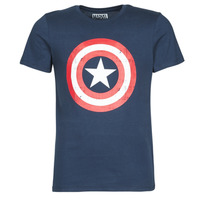 Clothing Men short-sleeved t-shirts Casual Attitude CAPTAIN AMERICA LOGO Marine