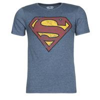 Clothing Men Short-sleeved t-shirts Yurban SUPERMAN LOGO VINTAGE Marine