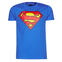 Clothing Men short-sleeved t-shirts Casual Attitude SUPERMAN LOGO CLASSIC Blue