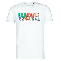 Clothing Men short-sleeved t-shirts Casual Attitude MARVEL HERO LOGO White