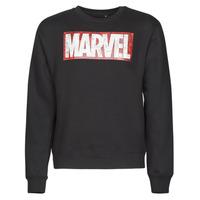Clothing Men Sweaters Yurban MARVEL MAGAZINE CREW Black