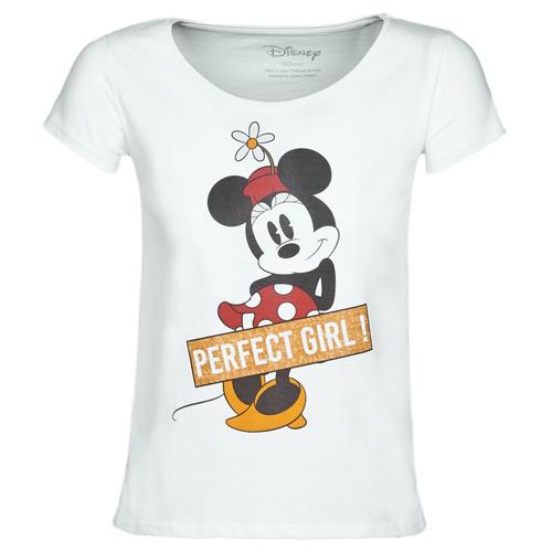 Clothing Women Short-sleeved t-shirts Yurban MINNIE PERFECT GIRL White