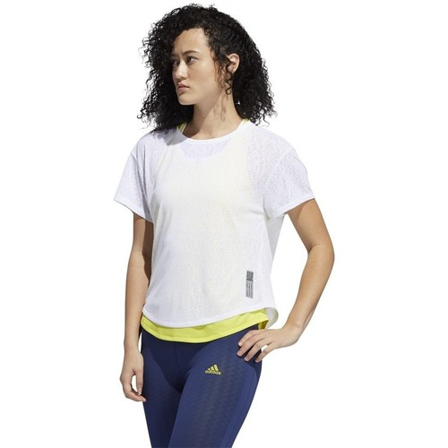 Clothing Women short-sleeved t-shirts adidas Originals Adapt Tee White