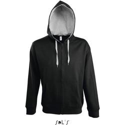 Clothing Men Track tops Sol's Veste zippé à capuche  Soul noir