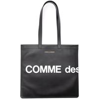 Bags Women Small shoulder bags Comme Des Garcons Shopping Bag model Huge Logo in Black