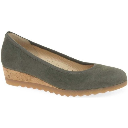 Shoes Women Flat shoes Gabor Epworth Womens Low Wedge Heeled Shoes green