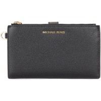 Bags Women Wallets MICHAEL Michael Kors wristlet in black grained leather Black