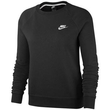 Clothing Women sweaters Nike Essential Crew Fleece Black