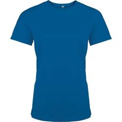 Clothing Women Short-sleeved t-shirts Proact T-Shirt femme manches courtes  Sport bleu marine