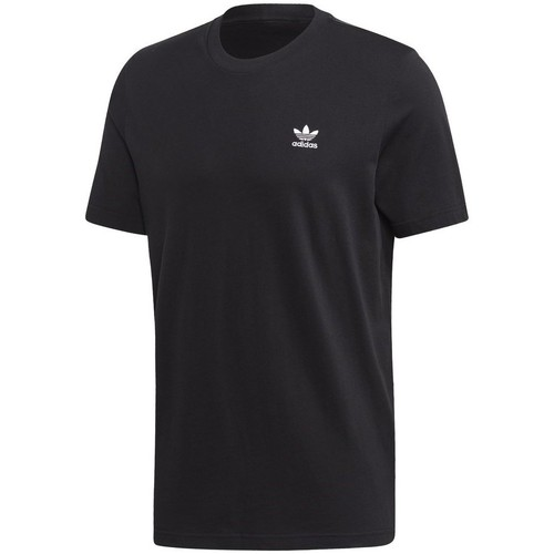 Clothing Men short-sleeved t-shirts adidas Originals Trefoil Essentials Tee Black