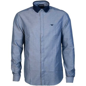 Clothing Men Long-sleeved shirts Armani 6G1C711N78Z_f938navy blue