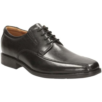 Shoes Men Derby Shoes Clarks Tilden Walk Mens Wide Lace-Up Derby Shoes black