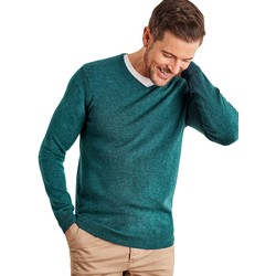 Clothing Men jumpers Woolovers Cashmere and Merino V Neck Knitted Sweater Green