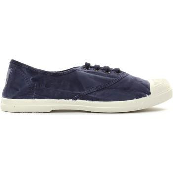 Shoes Women Tennis shoes Natural World Tennis en toile Aspect Délavée 677-102E Marino Enz Blue