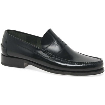Shoes Men Loafers Loake Princeton Leather Moccasin Shoes black