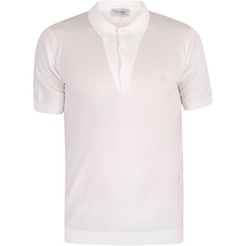 Clothing Men Short-sleeved polo shirts John Smedley Adrian Polo Shirt white