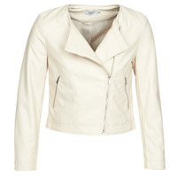 Clothing Women Leather jackets / Imitation leather Only ONLDALY Beige