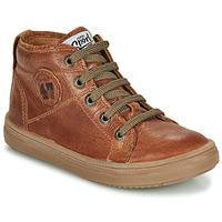 Shoes Boy Hi top trainers GBB KELIG Brown