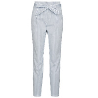 Clothing Women chinos Vero Moda VMEVA White / Grey