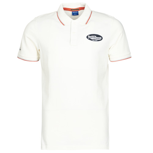 Clothing Men Short-sleeved polo shirts Jack & Jones JORAYDON White