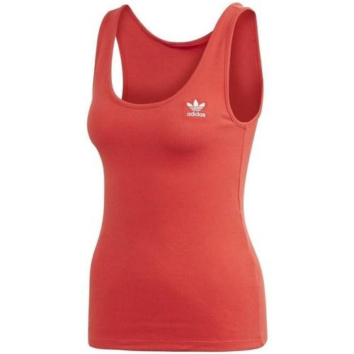 Clothing Women Tops / Sleeveless T-shirts adidas Originals Tank Top Red