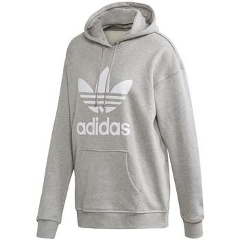 Clothing Women Sweaters adidas Originals Trefoil Hoodie Grey