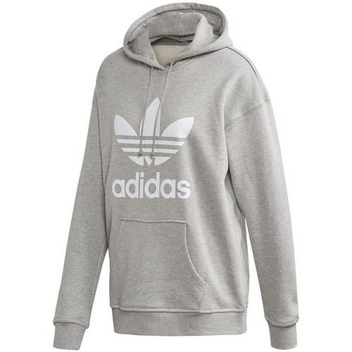 Clothing Women sweaters adidas Originals Trefoil Hoodie Grey