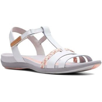Shoes Women Sandals Clarks Tealite Grace Womens T-Bar Sandals white
