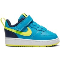 Shoes Children Low top trainers Nike Court Borough Low 2 Black, Blue, Turquoise