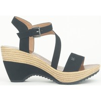 Shoes Women Sandals Chattawak Compensée 9-MAELLE Noir Black