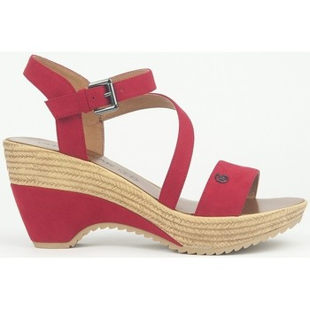 Shoes Women Sandals Chattawak Compensée 9-MAELLE ROUGE Red