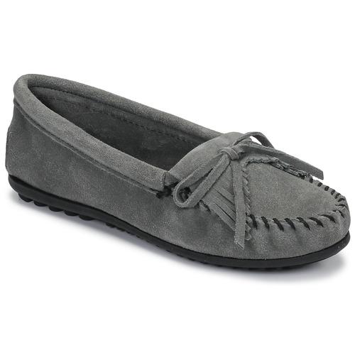 Shoes Women Loafers Minnetonka KILTY Grey