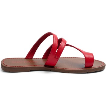 Shoes Women Sandals Chattawak Tong 9-TEXANE Rouge Red