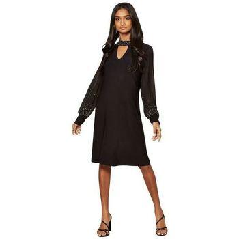 Clothing Women Short Dresses Anastasia Black Lined Sequin Dress Black