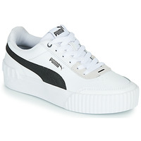 Shoes Women Low top trainers Puma CARINA LIFT White / Black / Grey