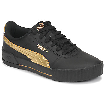Shoes Women Low top trainers Puma CARINA Black / Gold