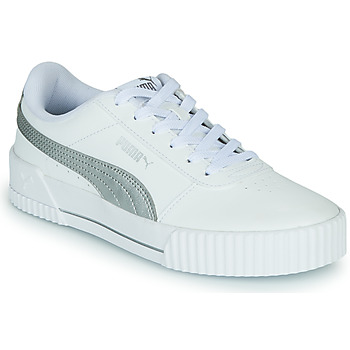 Shoes Women Low top trainers Puma CARINA White / Silver