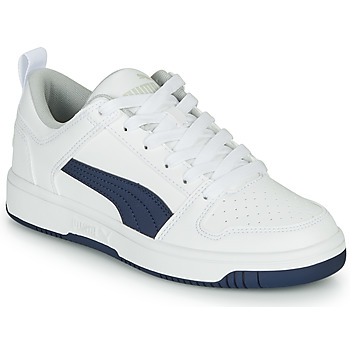 Shoes Children Low top trainers Puma REBOUND LOW White / Blue
