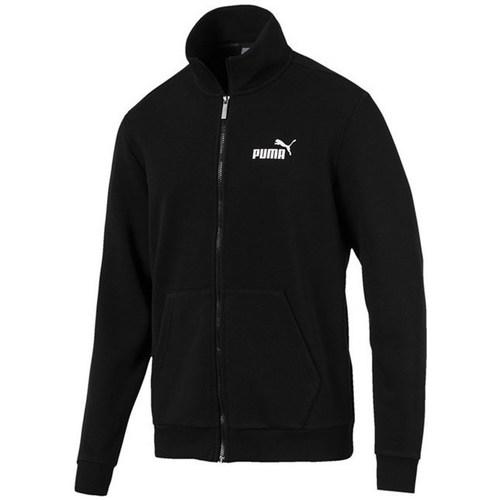 Clothing Men Sweaters Puma Essentials Track Jacket TR Black