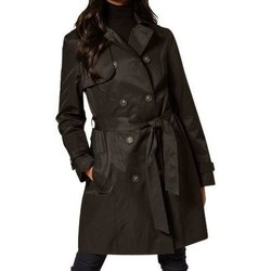 Clothing Women Trench coats Anastasia Womens Black Trench Raincoat Black