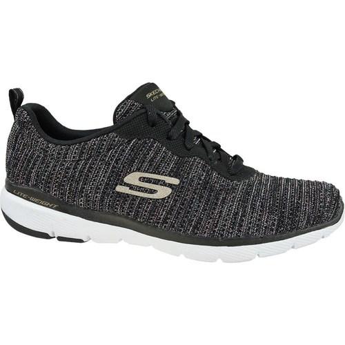Shoes Women Low top trainers Skechers Flex Appeal 30 Black
