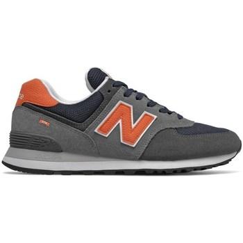 Shoes Men Low top trainers New Balance 574 Grey, Orange
