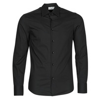 Clothing Men Long-sleeved shirts Casual Attitude MILE Black