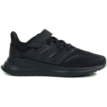 Shoes Children Low top trainers adidas Originals Runfalcon C Black