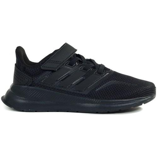 Shoes Children Low top trainers adidas Originals Runfalcon C Black