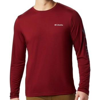 Clothing Men Long sleeved tee-shirts Columbia Miller Valley Burgundy