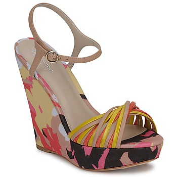 Shoes Women Sandals Bourne KARMEL BEIGE / Multicoloured