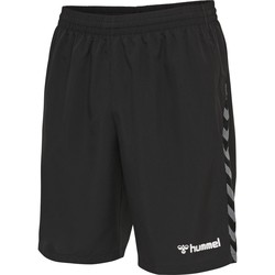 Clothing Men Shorts / Bermudas Hummel Short  Authentic Training noir/blanc