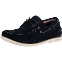 Shoes Men Espadrilles Tommy Hilfiger Classic Suede Boat Shoes blue