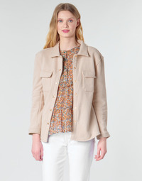 Clothing Women Jackets / Blazers Betty London MOUCHE Beige